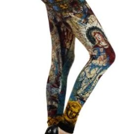 Angel Stain Glass Cotton Leggings