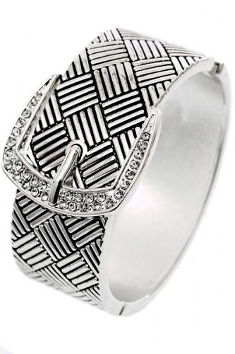 Silver belt Cuff buckle bracelet