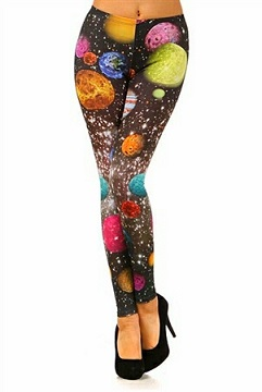 Galaxy Planets Print Leggings