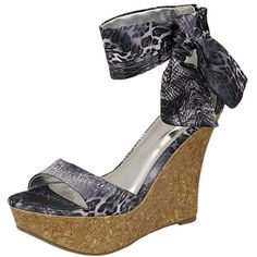 Liliana Sofie-2 Cuff Open Toe Wedge