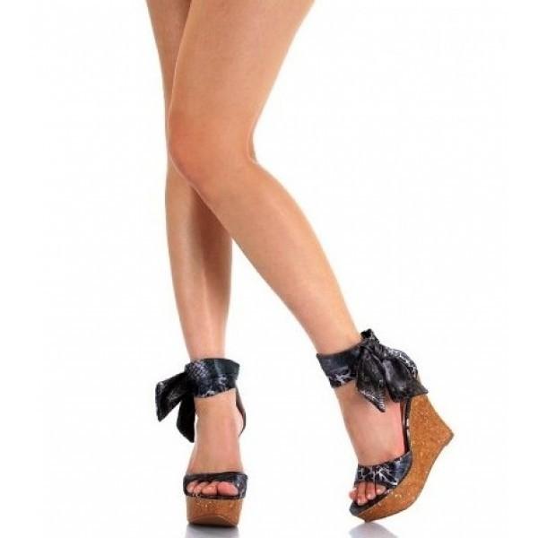 Liliana Sofie-2 Cuff Open Toe Wedge