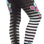 Pow Striped Star-Leggings