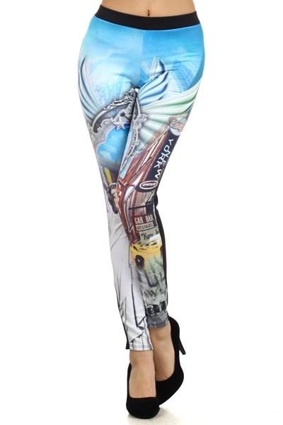 Statue of Liberty Split Leggings