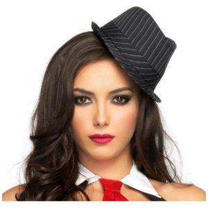 Striped Mini Fedora Hat