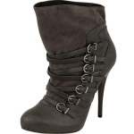 Ricci18 Studded Back Platform Gray