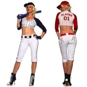 Blue White Star Player Baseball Costume
