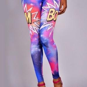 Boom Galaxy Printed Leggings