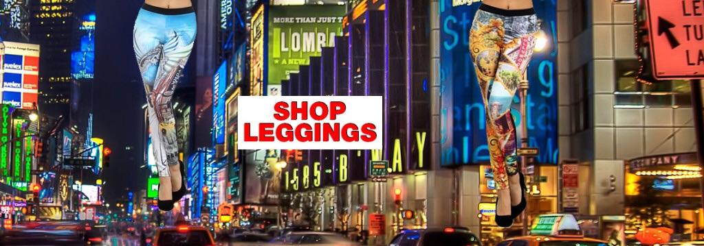 Shop city print leggings