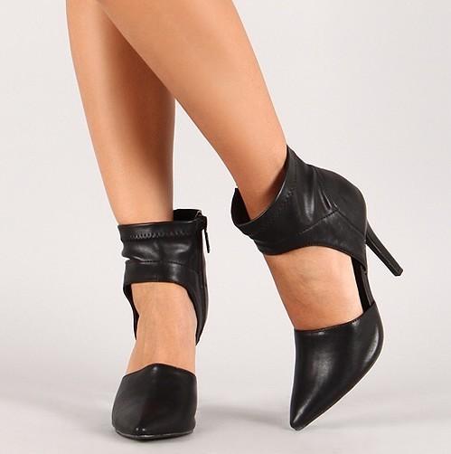 Cute ankle wrap heels