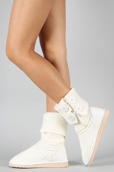 Miss Me Womens Cupcake 45a Sweater Boot White
