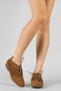 Suede Flat Ankle Booties