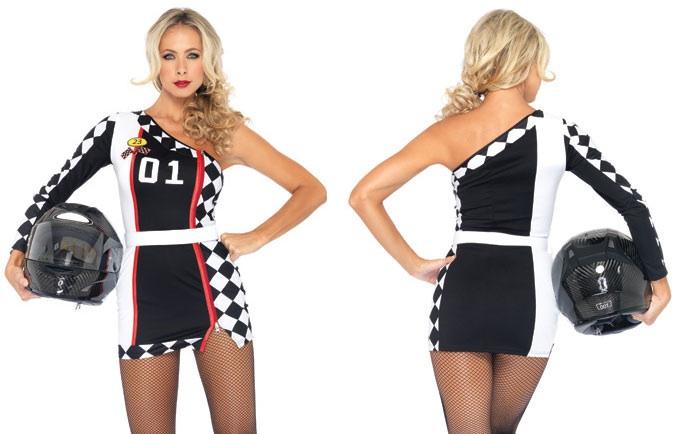 Adult Racer Girl Costume
