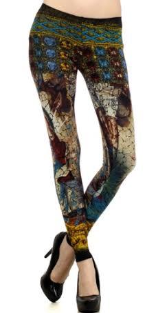 Angel Stain Glass Cotton Leggings