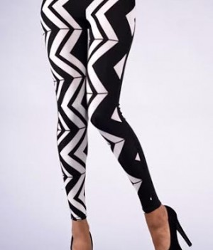 Chevron Print Leggings