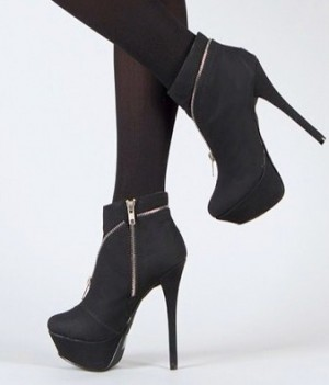 Dainty-8 Women Dress Zip Booties