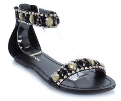 Misbehave Veronica-3 Embellished Cuff Flat Sandal